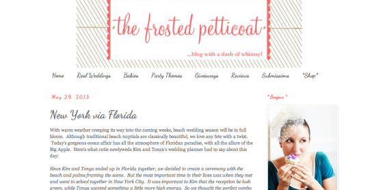 Jet Set Wed published on The Frosted Petticoat